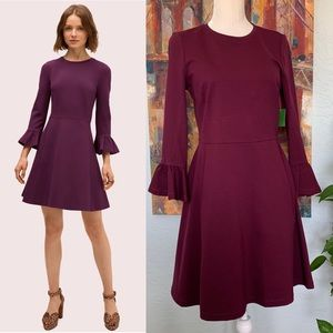 Kate Spade Bell Sleeve Ponte Dress M